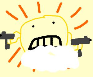dual-wielding cloud-armoured sun