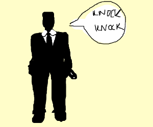 Secret agent tells a knock knock joke