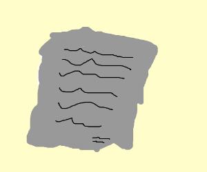 wrinkled document report