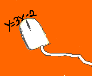 Computer mouse doing algebra
