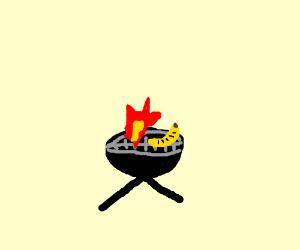 barbecued banana