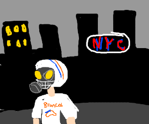 The air in NYC is too thick for the Broncos