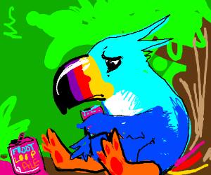 Toucan Sam drinks Froot Loop ale, laments life