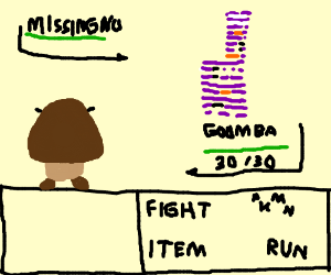 Goomba vs a glitch