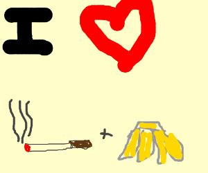 I like smoked banana