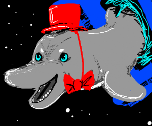 Bow tie Dolphin jumps out of the Tardis