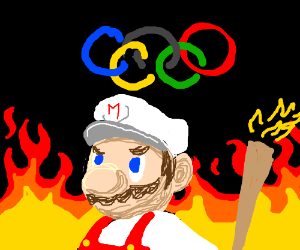 Pyromaniac with the Olympic Torch