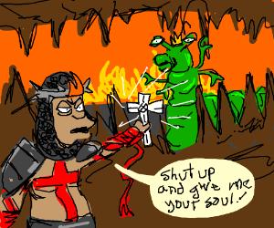 Crusader captures alien slug king's soul...