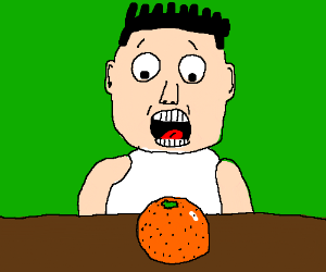 person is surprised at orange
