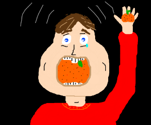 Does this orange fit into my mouth?