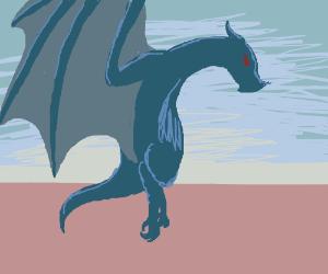 A blue dragon