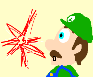 Luigi sees red flash
