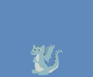 Cute little horned dragon.