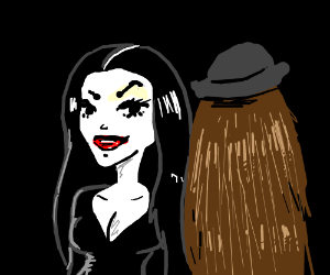 Morticia and cousin It