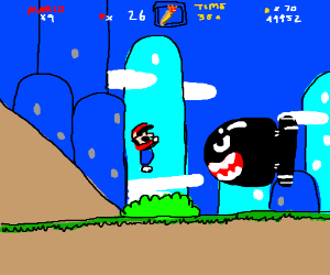 Mario carrying the Olympic Torch
