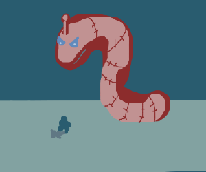 Giant robot worm