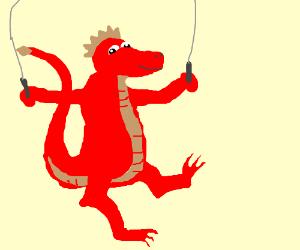 Derpy dragon skipping rope.