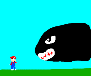 Shark Bomb Attacks Mario