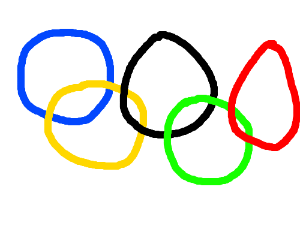 One of the Olympic Rings fails to open