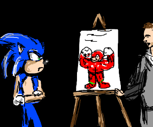 Sonic is not okay with new Knuckles design