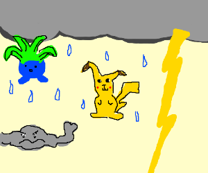 It's raining Pokemon.