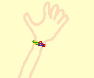 My bracelet is made of Froot Loops!