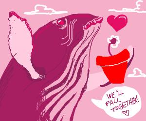 Sperm Whale and Petunia fall (Douglas Adams)