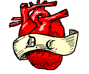 Draw a large ornate heart