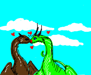Kissing dragons