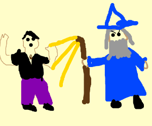 Over powered gay person bullied by wizard