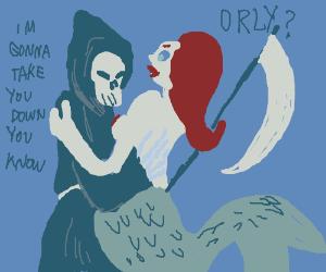 Grim reaper has come for ariel.