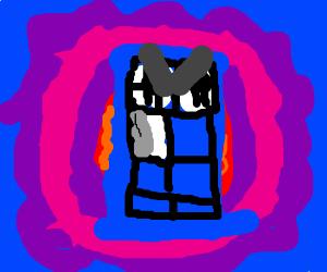 an angry TARDIS