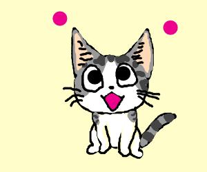 Kawaii anime cat