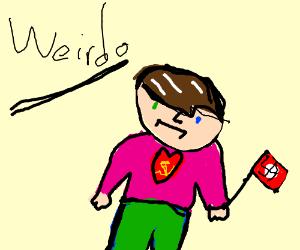 Person is weirdo