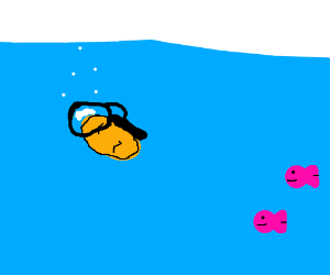 Chicken Nugget Scuba Diver