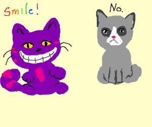 The Cheshire cat meets grumpy cat.