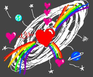 The universe exploding into love and rainbows.