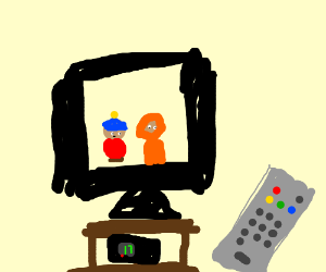 Two creepy guys from that badly drawn tv show
