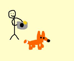 A Man Photos A Fox