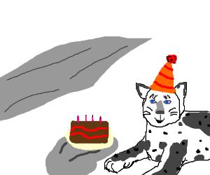 snow leopard Snowy birthday