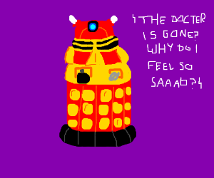 Sad red dalek :(