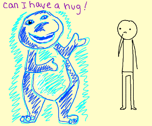 Anti-Matter Barney wants a hug