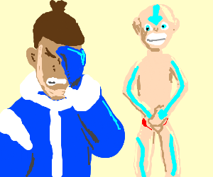 man confused to find the avatar is his speedos