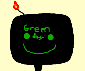 a livingbomb with a face is a green day album?