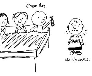 Charlie Brown, social recluse