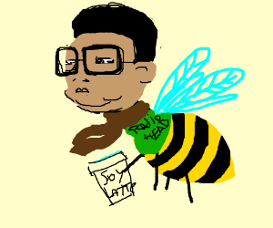 Kim Jong Il reincarnated as hipster bumble bee