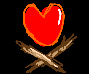 Heart and Cross-sticks