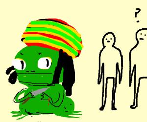 Rastafarian Toad secretly inflicts self harm