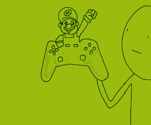 Mario is attached to a controller