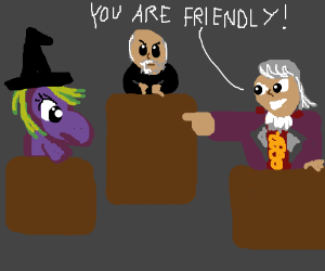 Pony accused of Friendship at a witch trial